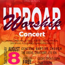 UPROAR youth concert a5 flyer